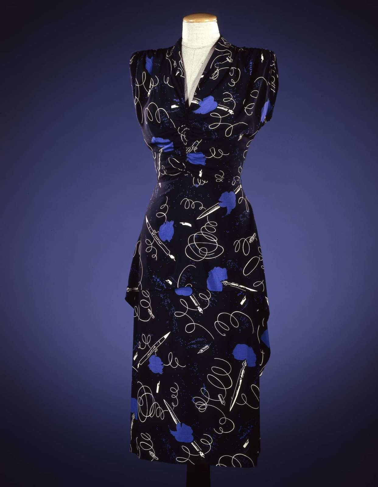 Printed dress, ca. 1946, Elsa Schiaparelli, Galleria del Costume di Palazzo Pitti, In Copyright