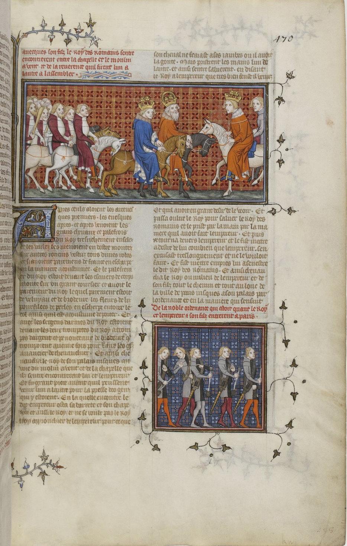 Grandes Chroniques de France f371, Paris, 14th century (c. 1375-1379), Bibliothèque nationale de France, Manuscrits, Français 2813 Parchment, 543 ff., 330 x 220 mm., Public Domain Mark