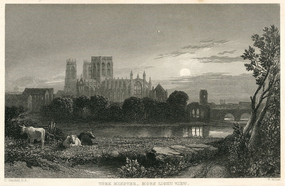 Moonlight view of York Minster, late 19th century, Clarkson Stanfield, University of Edinburgh, Public Domain Mark