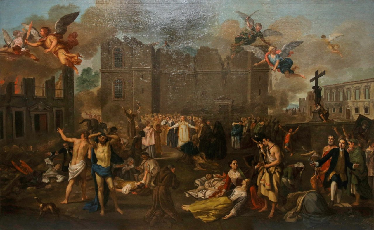 The Earthquake of 1755, painted from 1756 to 1792, João Glama Ströberle, Wikimedia Commons, Public Domain Mark