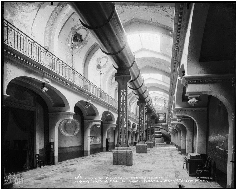 "Big room of the ""Siderostat"" inside the palace of Optics, 1900, Léon et Lévy/Roger-Viollet, Parisienne de Photographie, In Copyright"