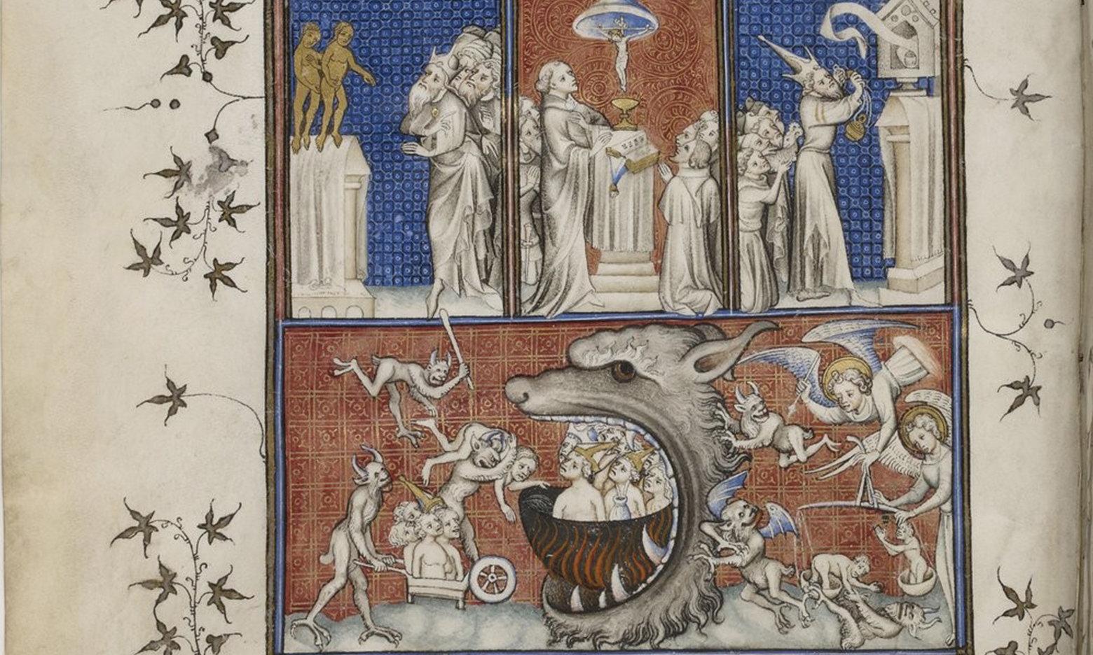 Saint Augustine, De Civitate Dei, French translation by Raoul de Presles f10, Paris, 14th century (c. 1375-1379), Bibliothèque nationale de France, Manuscrits, Français 2813 Parchment, 543 ff., 330 x 220 mm., Public Domain Mark