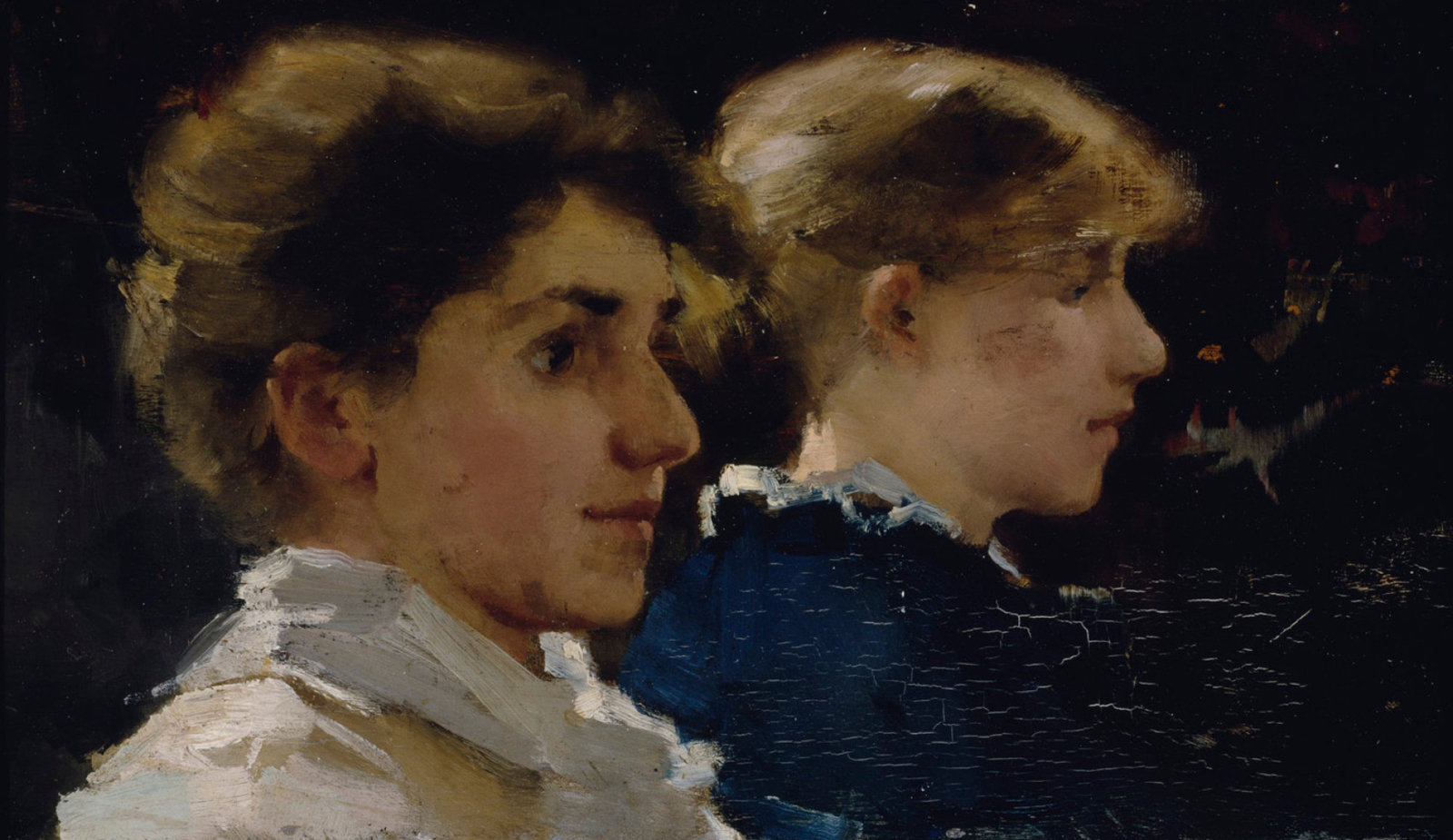 Two female profiles (in the foreground Marianne Preindelsberger), 1881, Helene Schjerfbeck, Finnish National Gallery, CC0