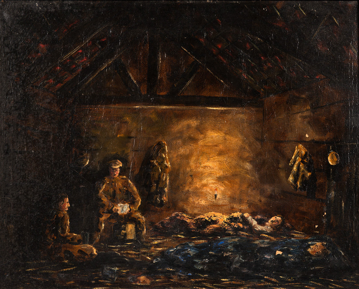 Confinement in a barn at Ramskapelle, 1917, Joseph De Necker, Europeana 1914-1918 / Guy Goedseels, CC BY-SA