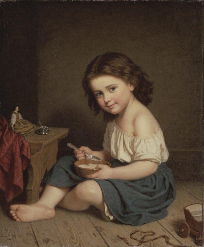 Breakfast, Amalia Lindegren, Nationalmuseum, Sweden, Public Domain Mark
