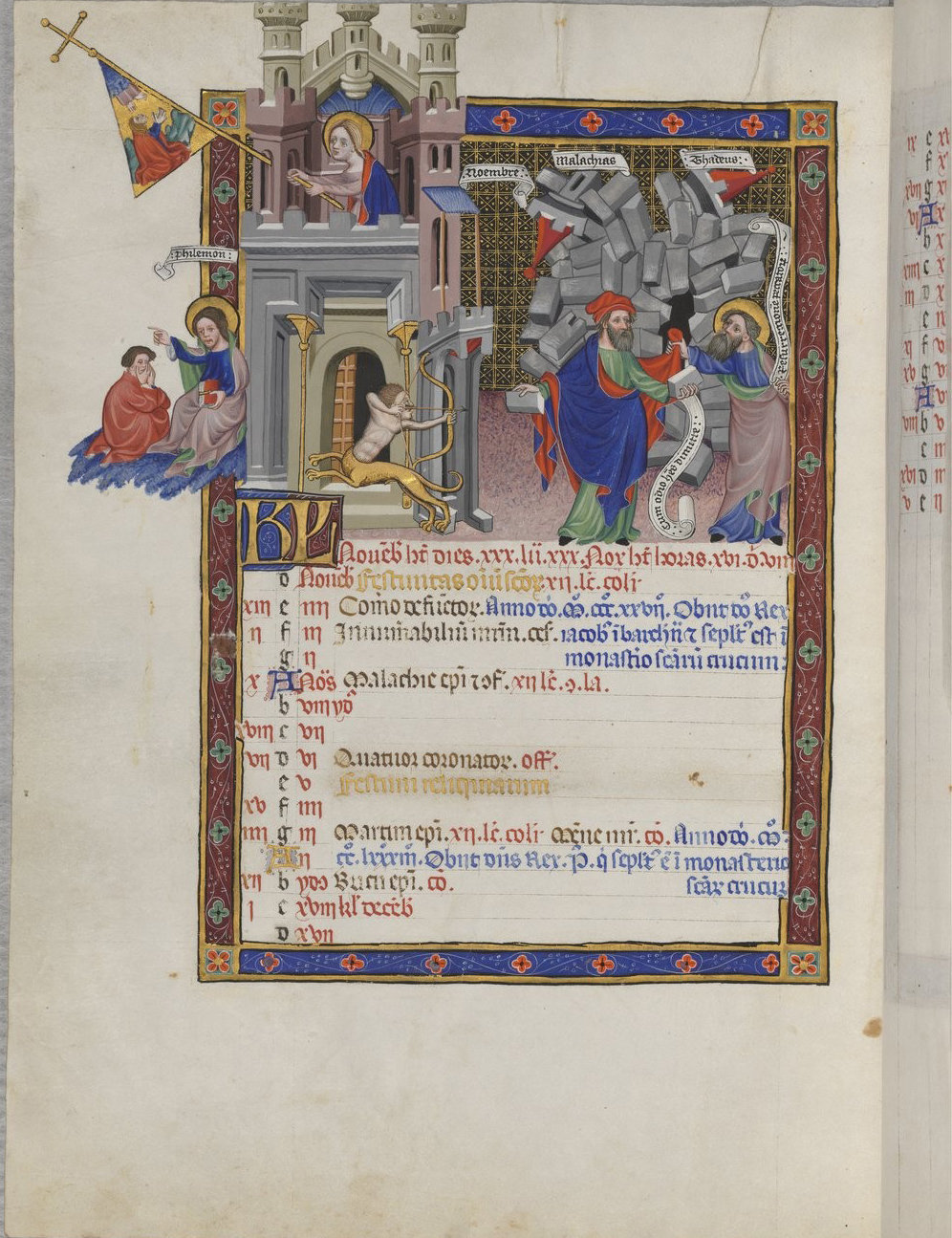 The Breviary of Martin of Aragon f26, Catalonia, between 1398 and 1410 and around 1420-1430, French National Library, Manuscripts, Rothschild 2529 Parchment, 454 ff., 350 x 252 mm. , In Copyright