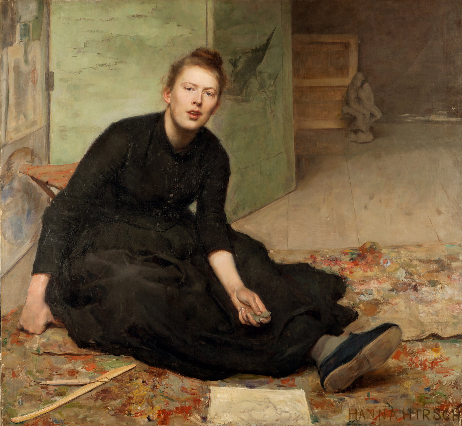 The Artist Venny Soldan-Brofeldt, 1886-87, Hanna Pauli, Gothenburg Museum of Art, CC BY-NC