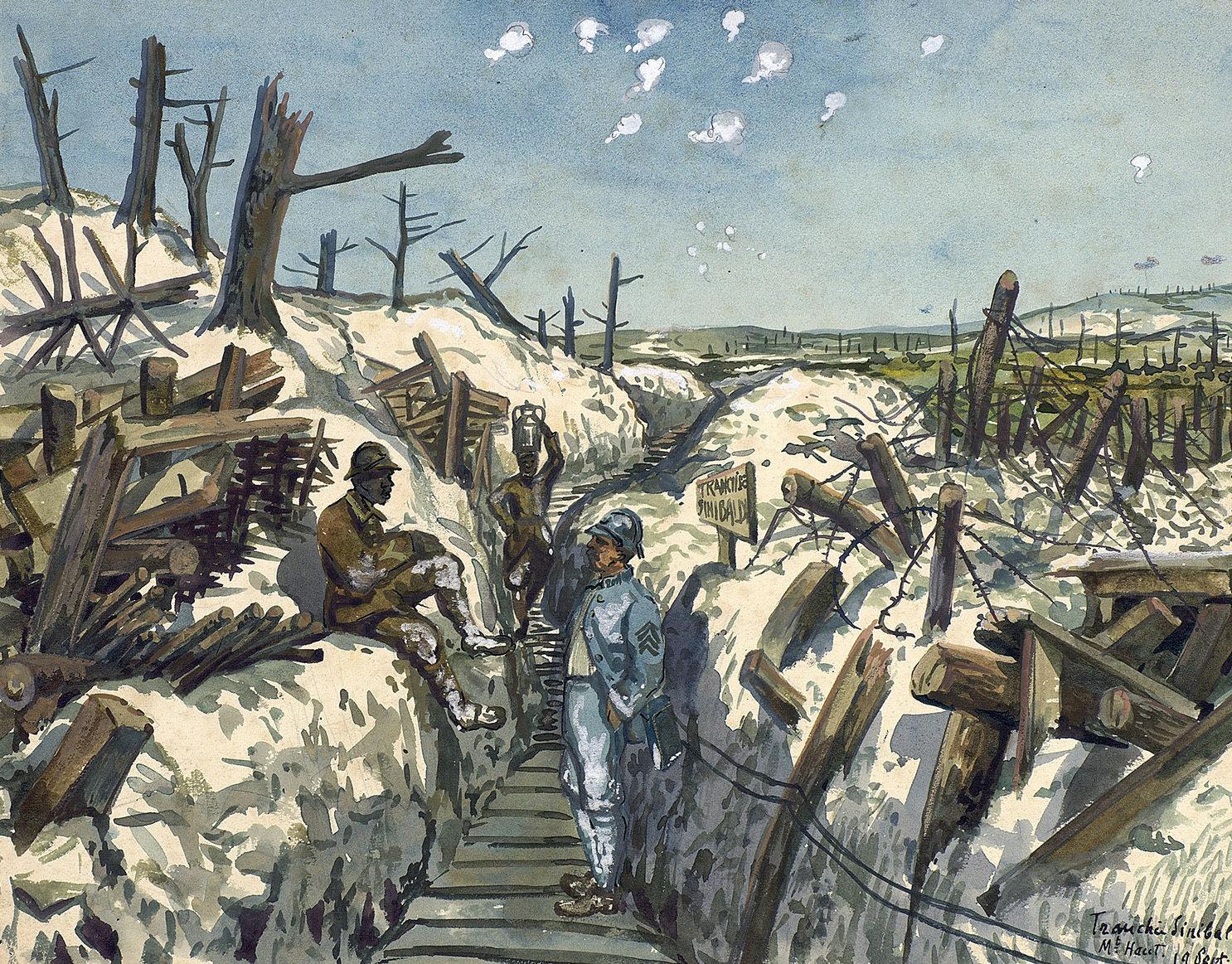 After the Bombardment, 21 January 1917, Alphonse Robine, Europeana 1914-1918 / Madame Nicole Robine, CC BY-SA