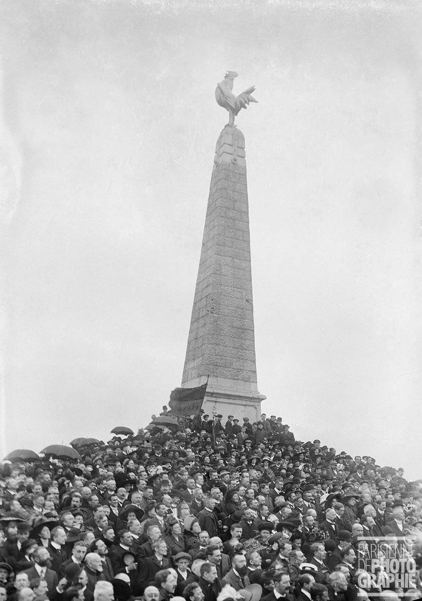 Commemorating the Battle of Jemappes, Belgium, 24 September 1911, Maurice-Louis Branger, Parisienne de Photographie, In Copyright