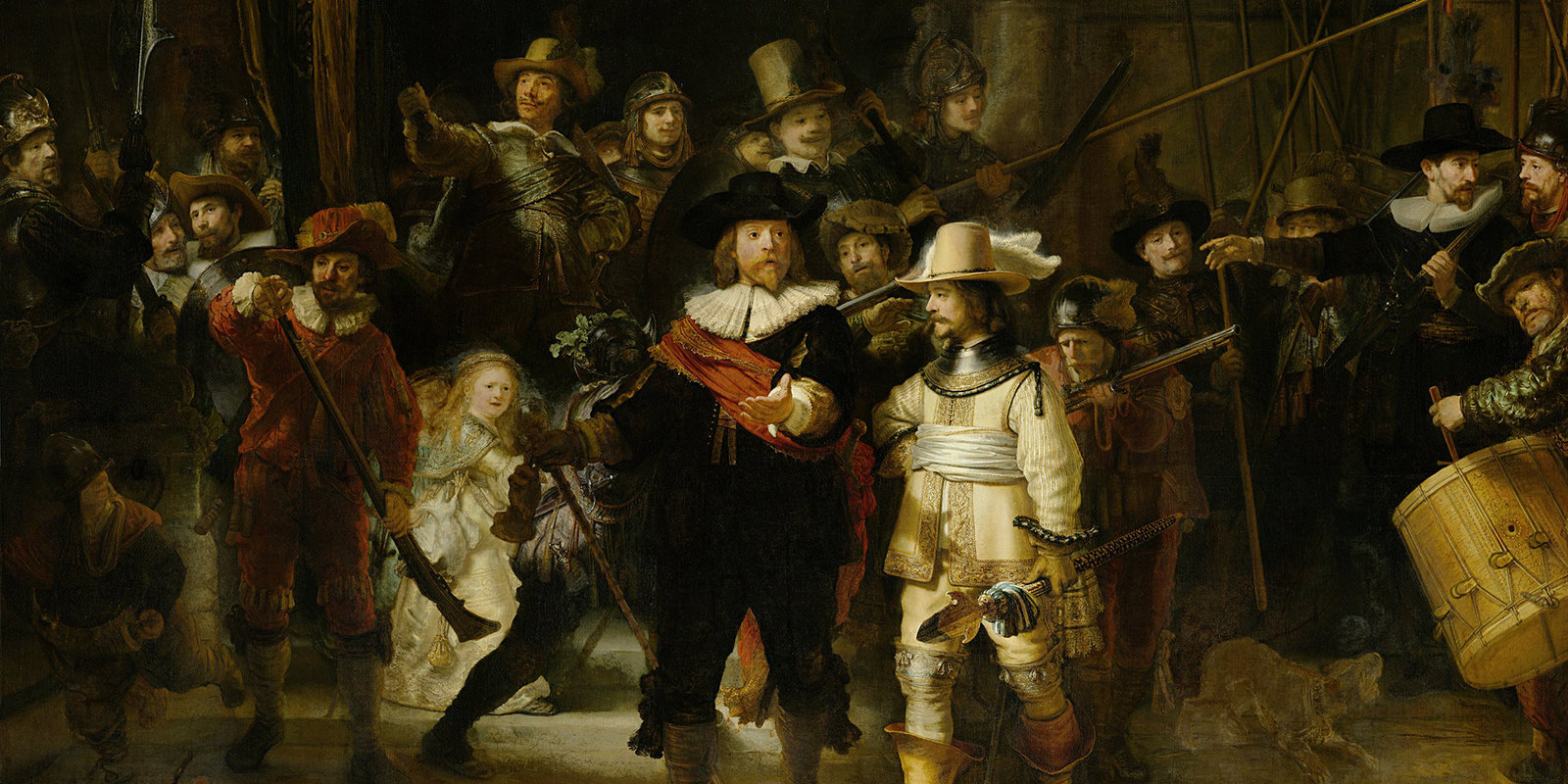 Militia Company (...) Known as the 'Night Watch', Rembrandt Harmenszoon van Rijn, Rijksmuseum, Public Domain Mark