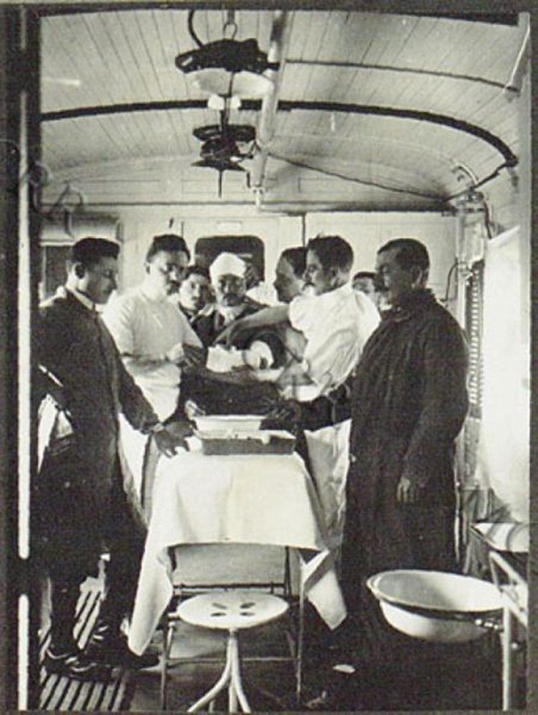 Treatment room in a train, 1916 Italy, Museo Centrale del Risorgimento, In Copyright