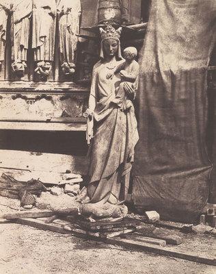Scultura della Vergine col Bambino, Notre-Dame, Parigi, 1853-1854, Auguste Mestral, Metropolitan Museum of Art, CC0
