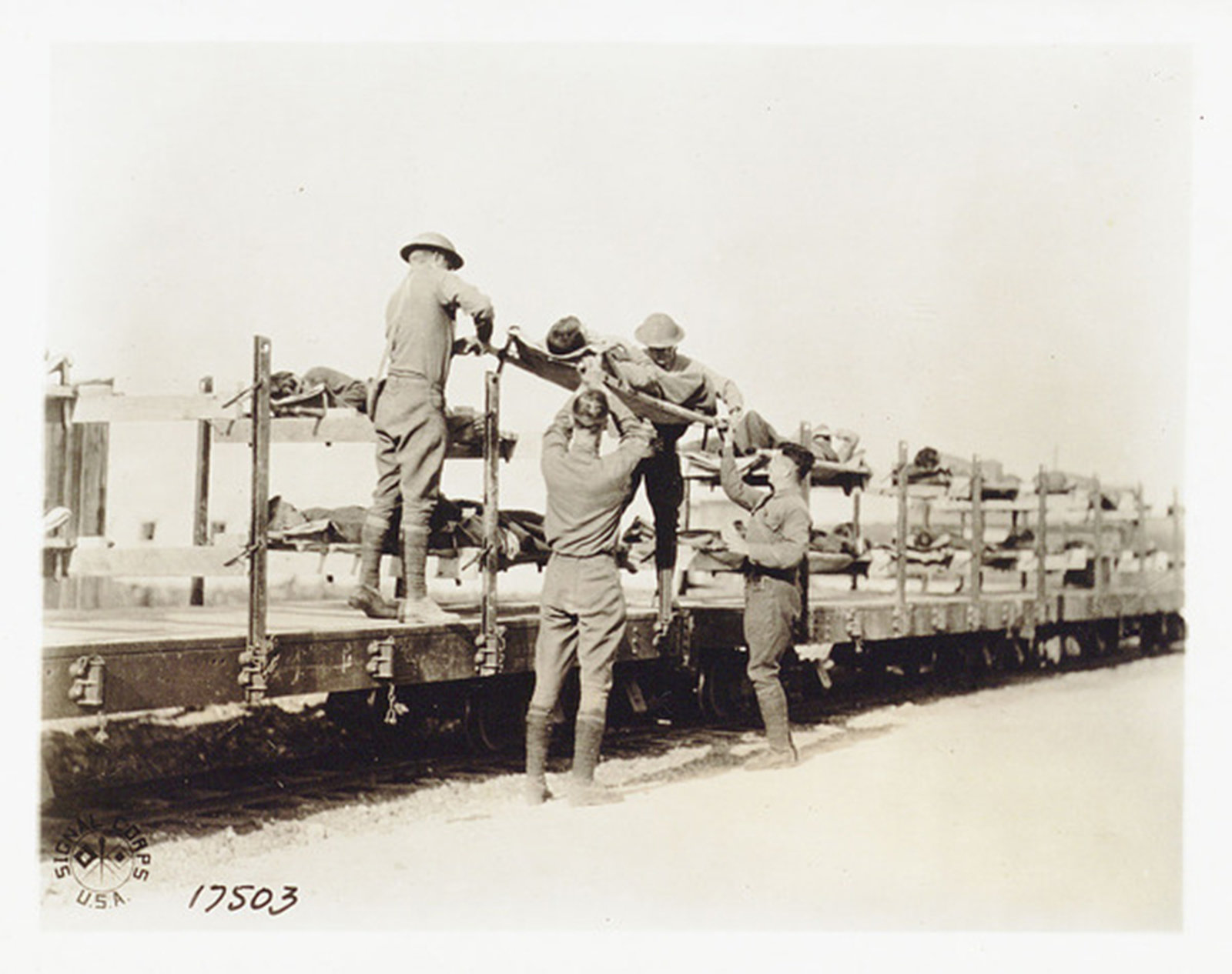 A train used for transportation of the wounded, 1918 Italy, Biblioteca Universitaria Alessandrina, In Copyright
