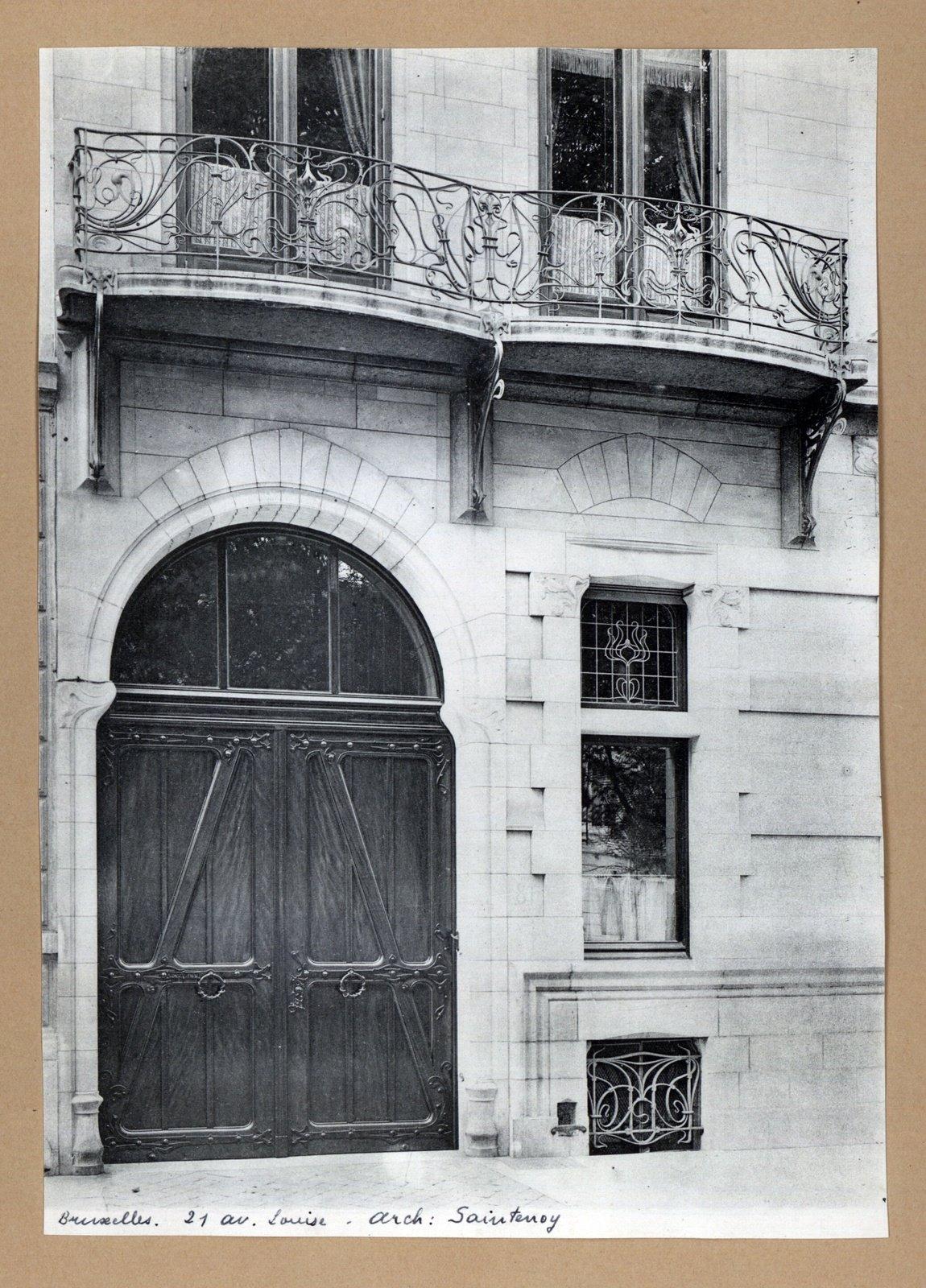 Bruxelles maison, 21 av. Louise-architecte: Saintenoy, Ghent University Library, CC BY-SA