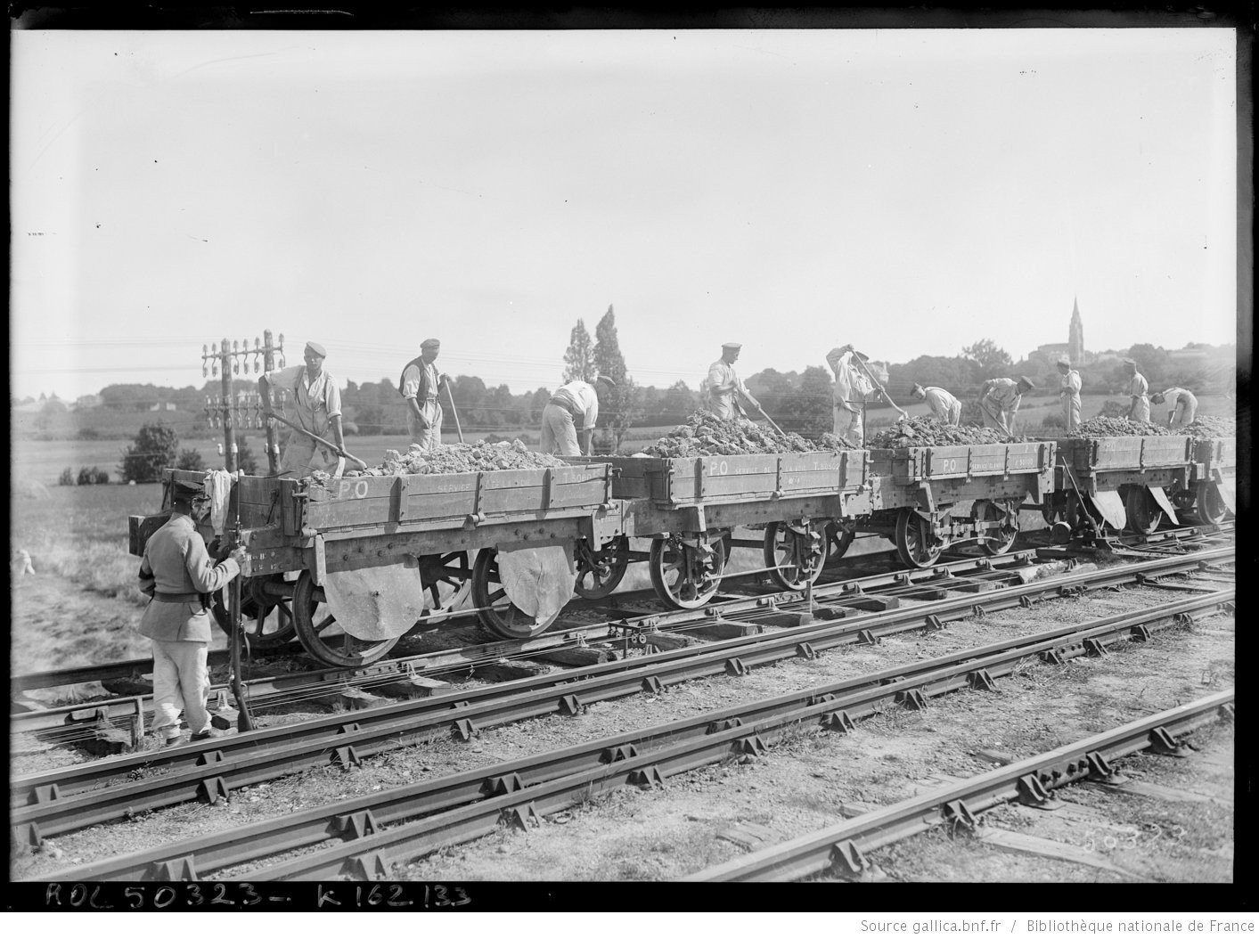 German POWs at work near Bordeaux, 1917 Bordeaux,  French National Library - Bibliothèque Nationale de France, Public Domain Mark