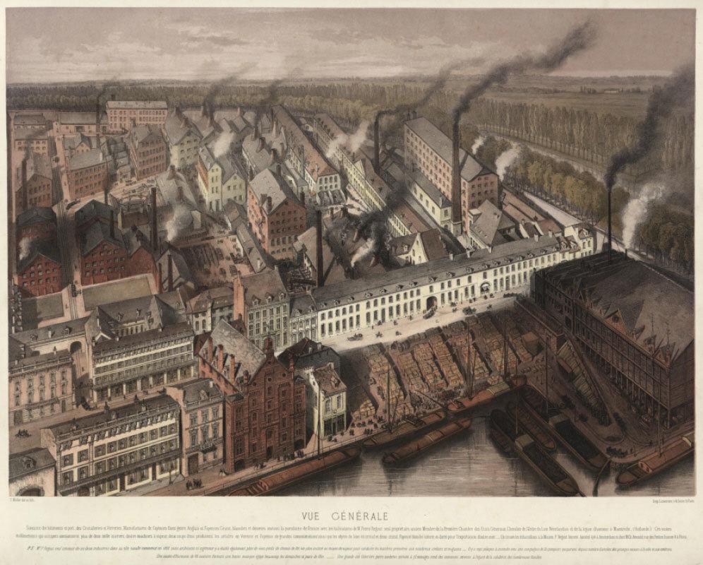 The 'cité ouvrière' in Maastricht (The Netherlands), 1868, Unnknown, Historisch centrum Limburg, CC BY-SA