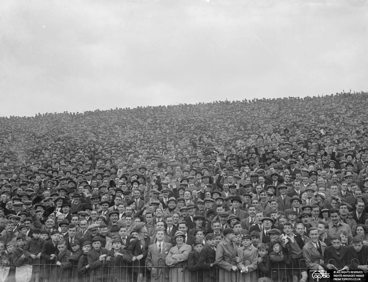 Arsenal versus Charlton at Highbury Stadium, London, 1936, John Topham, TopFoto.co.uk, In Copyright