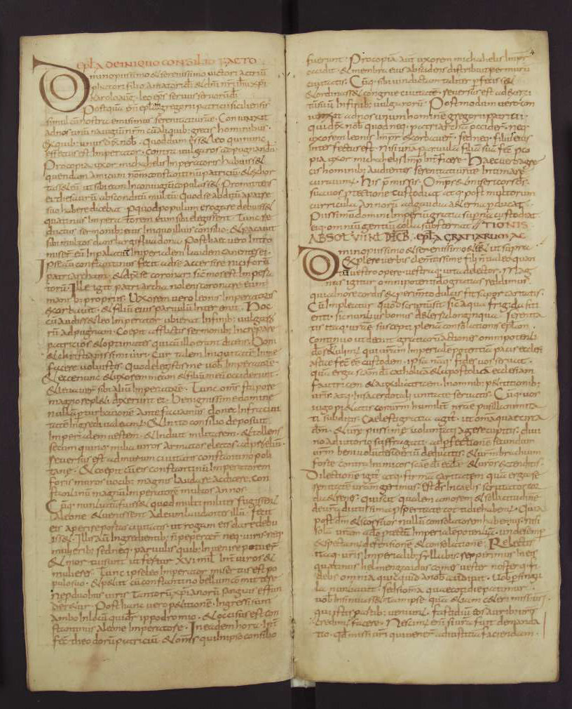 Capitulare de villis 3v-4,  Fulda, 2nd quarter of the 9th century, Wolfenbüttel, Herzog August Bibliothek, Cod. Guelf. 254 Helmst Parchment, 16 ff., 308 × 125 mm, In Copyright