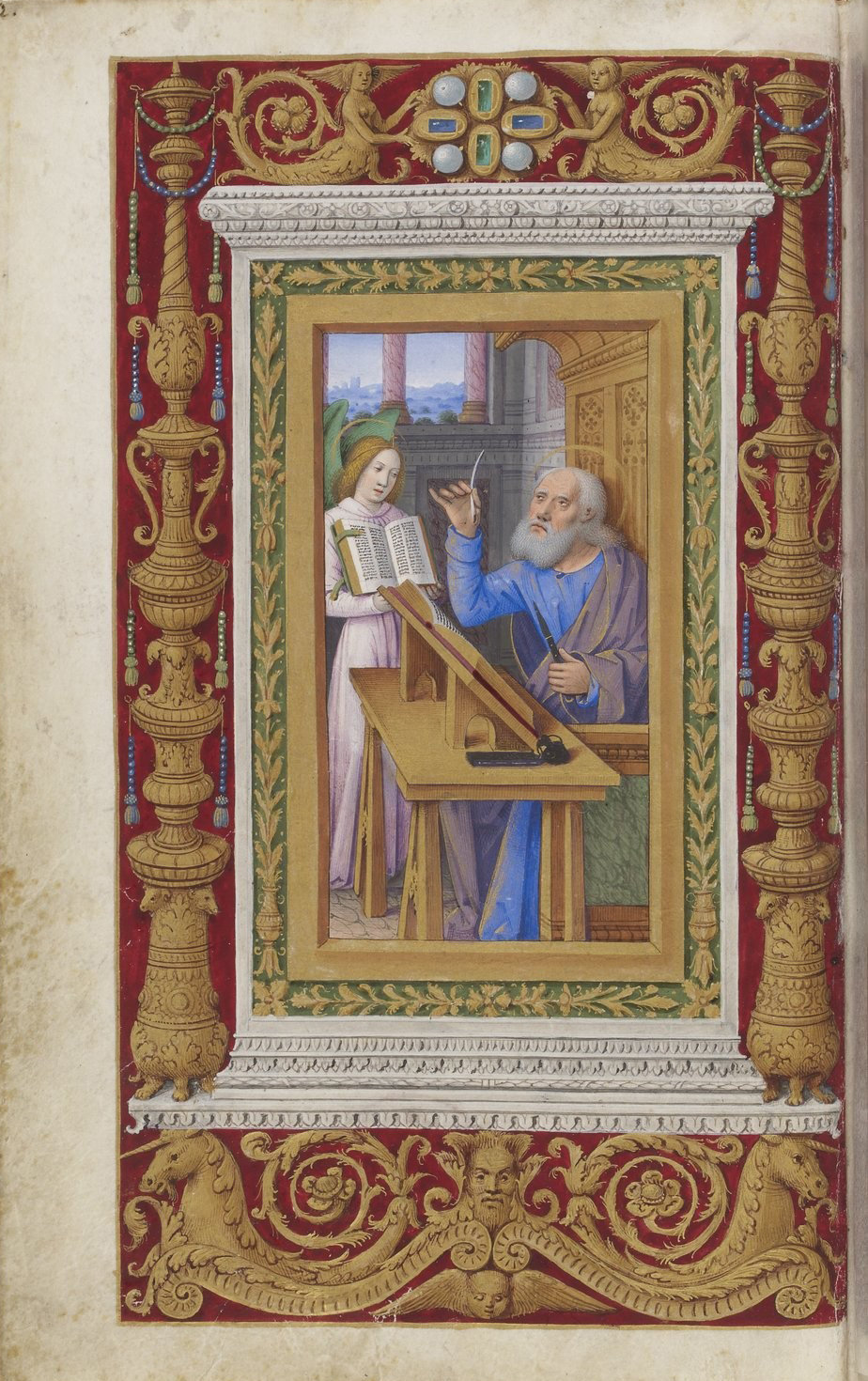 Book of hours of Frederic of Aragon f6, Tours, ca. 1501-1502, French National Library, Manuscripts, 10532 Parchment, 388 p., 255 x 170 mm, In Copyright