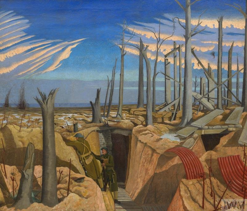 Oppy Wood, 1917: Evening, 1918, John Nash, Imperial War Museums, CC BY-NC-ND