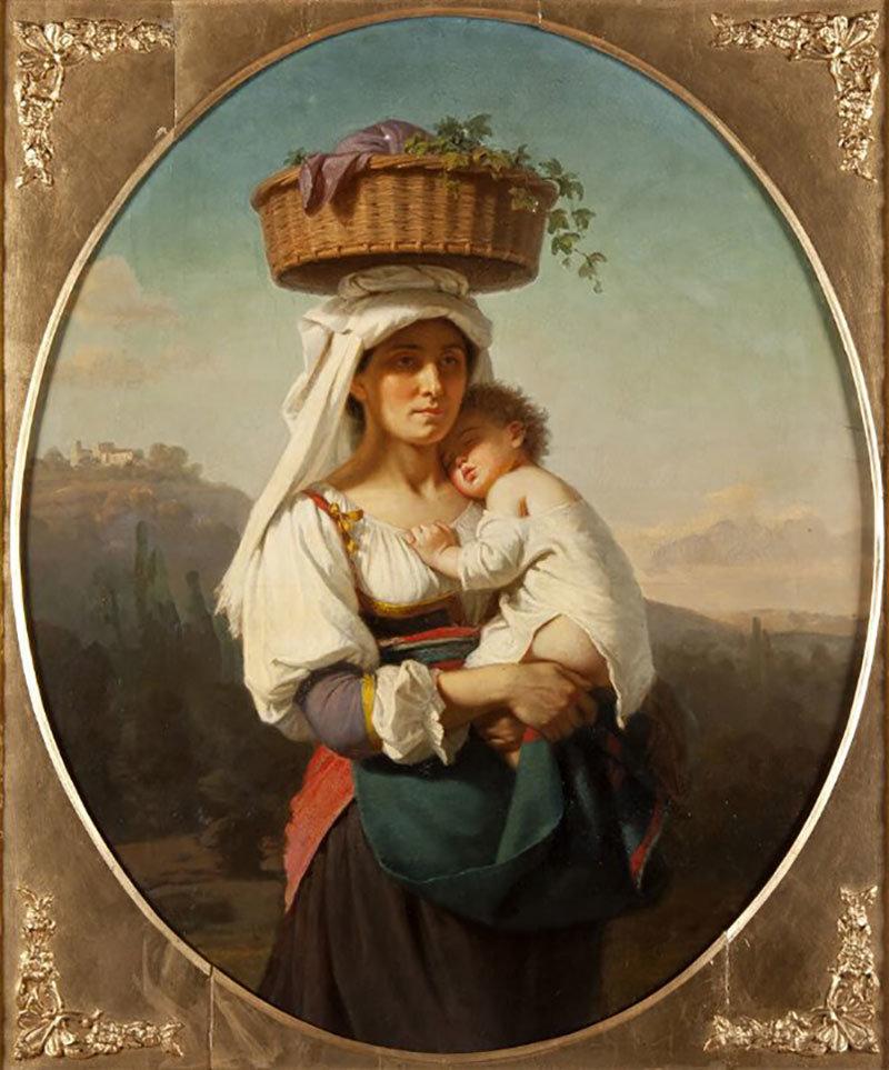 Italian mother with a child, Amalia Lindegren, Nationalmuseum, Sweden, Public Domain Mark