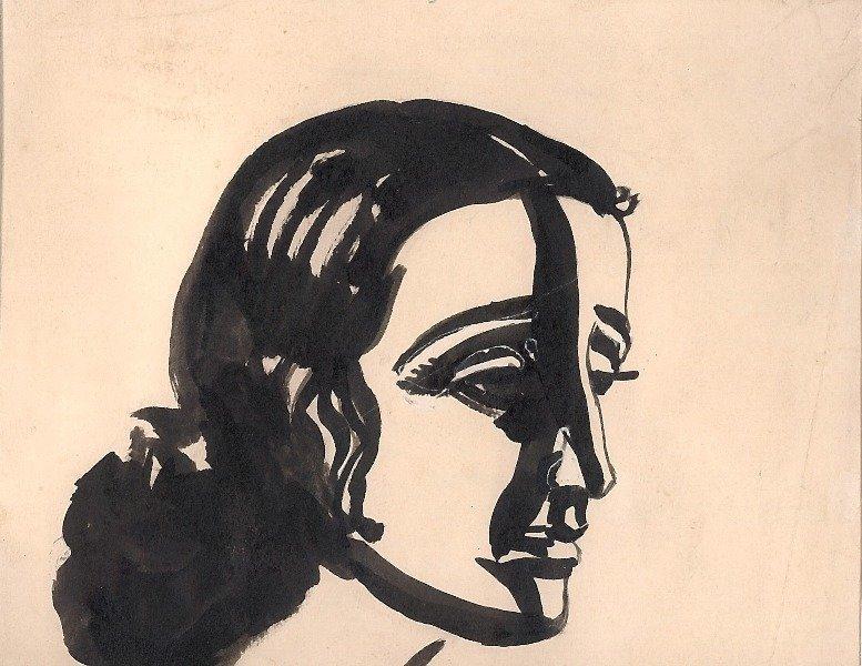 Portrait of Dora Gabe, Dechko Uzunov, Dora Gabe Public Library - Dobrich, CC0