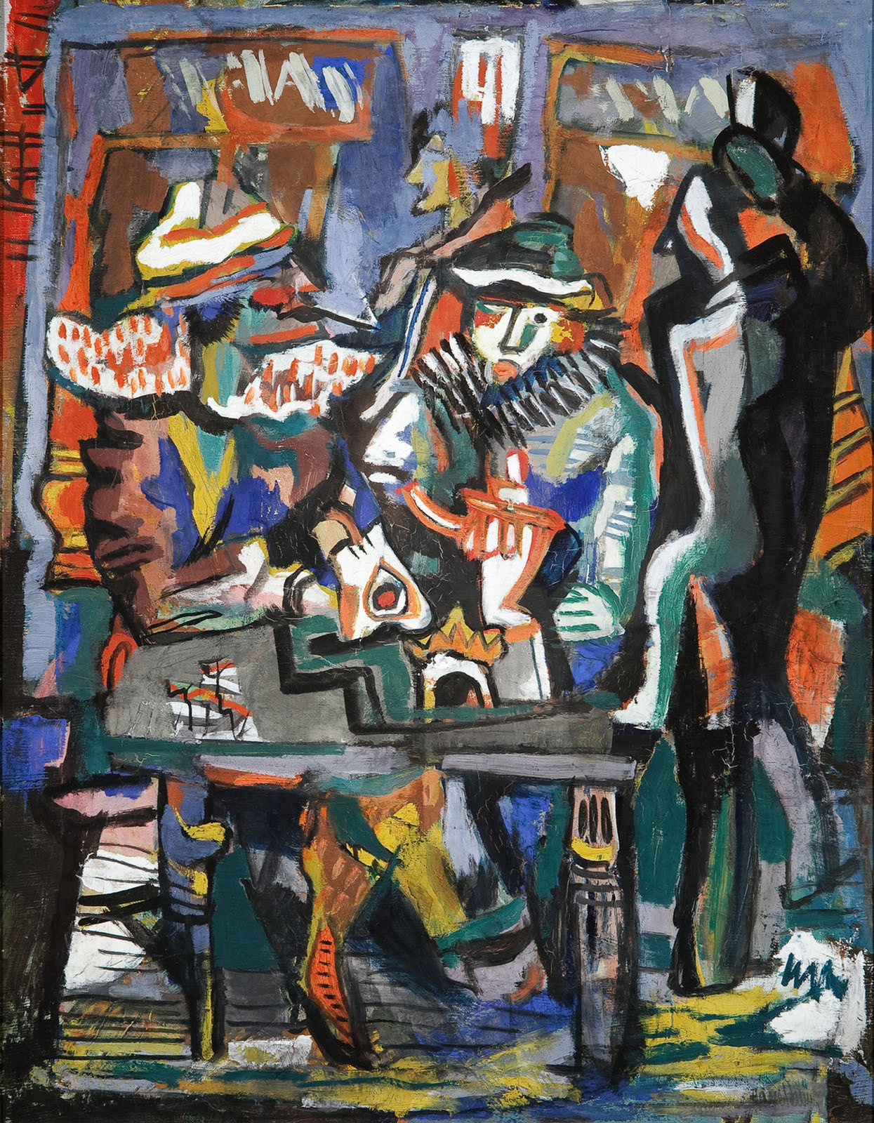 Café Concert, 1925-1927, Marcel Janco, National Museum of Art Romania, Romanian Modern Art Gallery, CC0