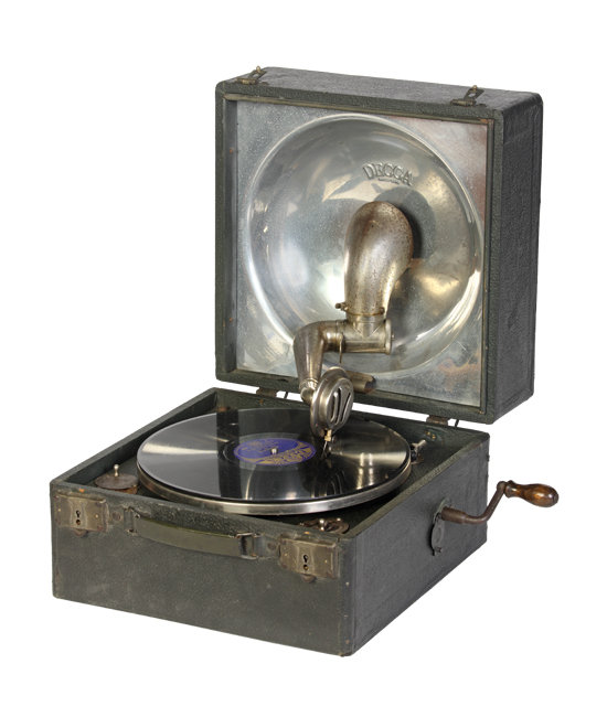 Decca Style 32 portable gramophone, British Library, British Library, CC BY