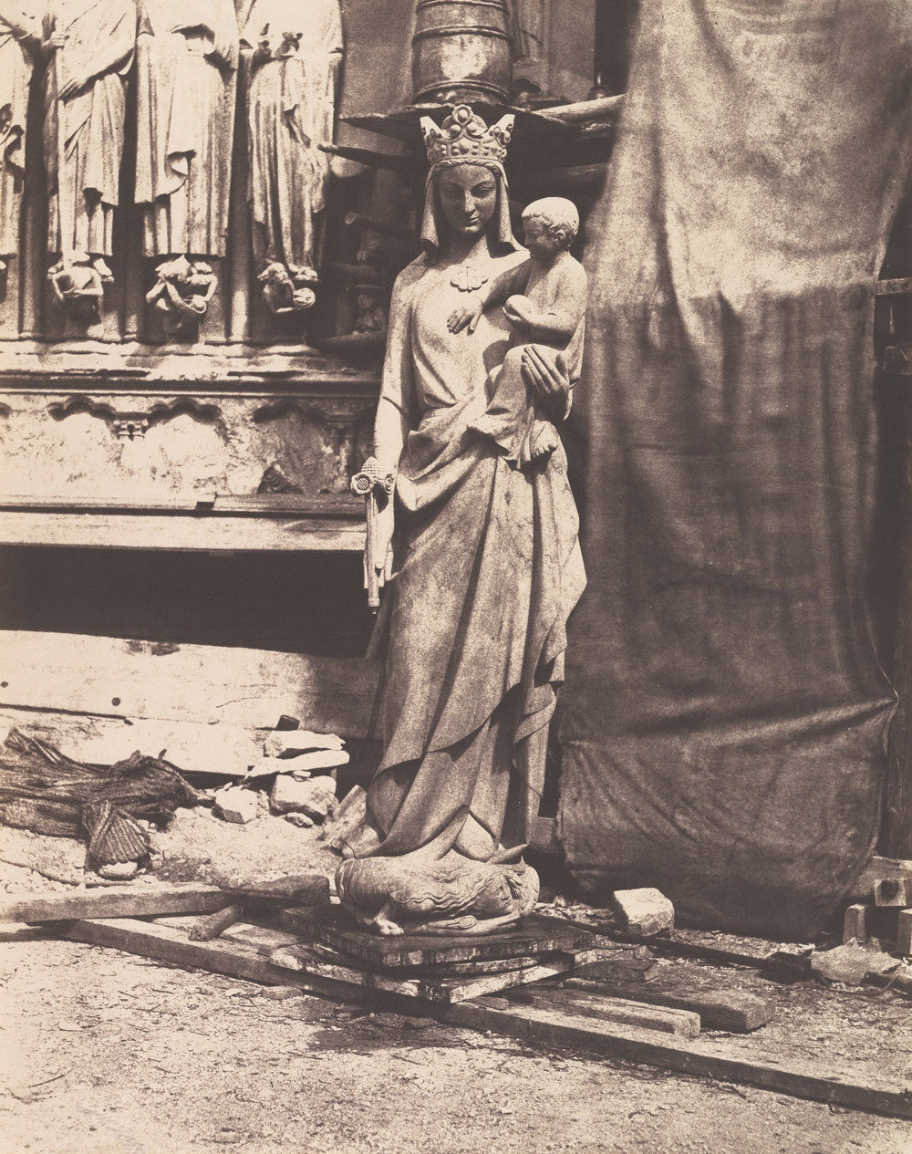 Sculpture of Virgin and Child, Notre-Dame, Paris,1853–1854, Auguste Mestral, Metropolitan Museum of Art, CC0