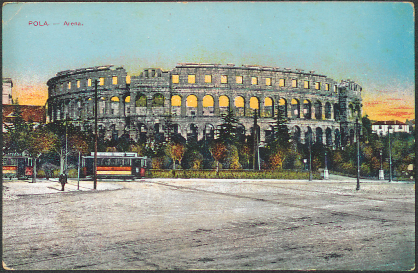 Pola [Pula]: Arena, 1915, M. Schulz, National and University Library in Zagreb, Public Domain Mark