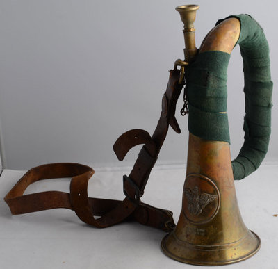 Horn vom Gefreiten Czeslaus Nowakowski aus Lissa, unknown photographer, Europeana 1914-1918 / Christian Nowakowski, CC BY-SA