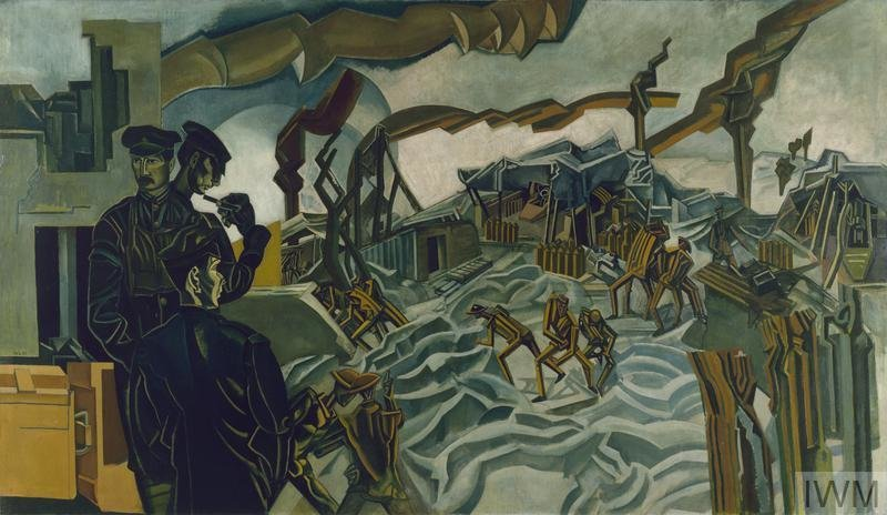 A Battery Shelled, 1919, Percy Wyndham Lewis, Imperial War Museums, CC BY-NC-ND