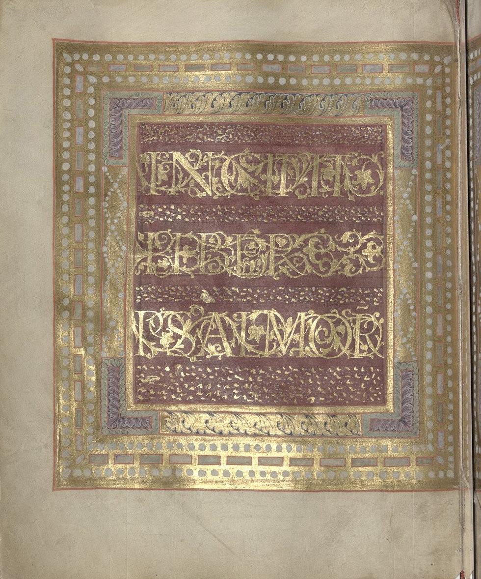 Psalterium Caroli Calvi [Psautier de Charles le Chauve] p.12, Liuthard, Palace School around 869-870, National Library of France, Manuscrits, Latin 1152 Parchment, 173 ff., 240 x 195 mm, In Copyright