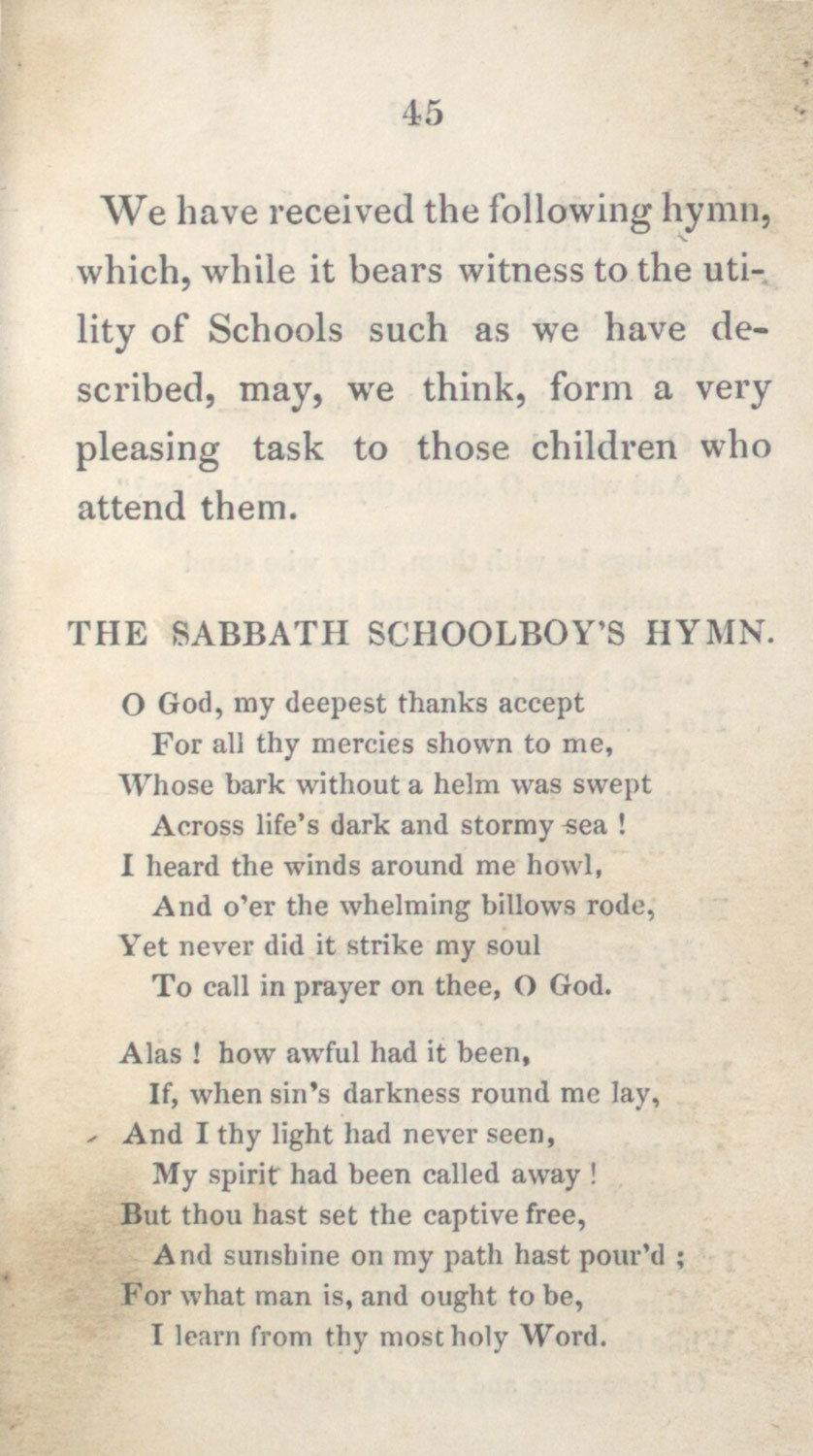 Sabbath Schools, 1827, Rev. George Tod, National Library of Scotland, Public Domain Mark