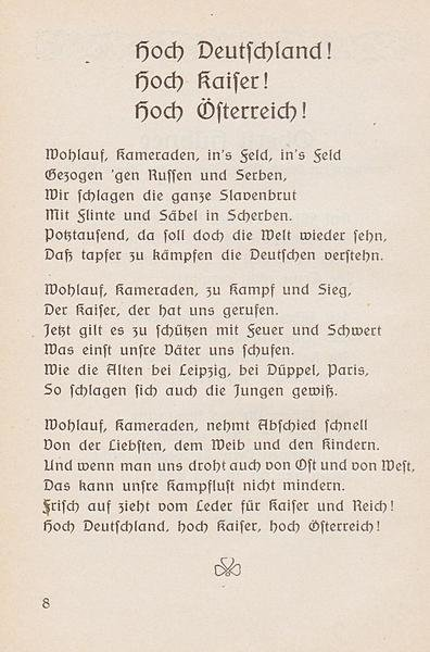 Patriotic Songs shall keep the mood, Edmeier, M. 1915, State Library of Berlin, Public Domain Mark