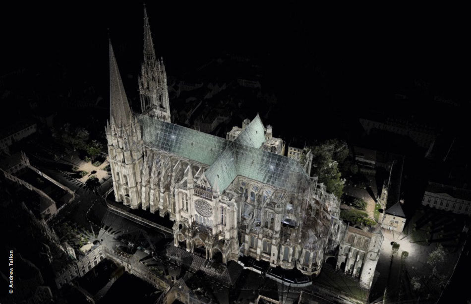 3D model of Notre-Dame, Andrew Tallon, Vassar College, Columbia University, In Copyright