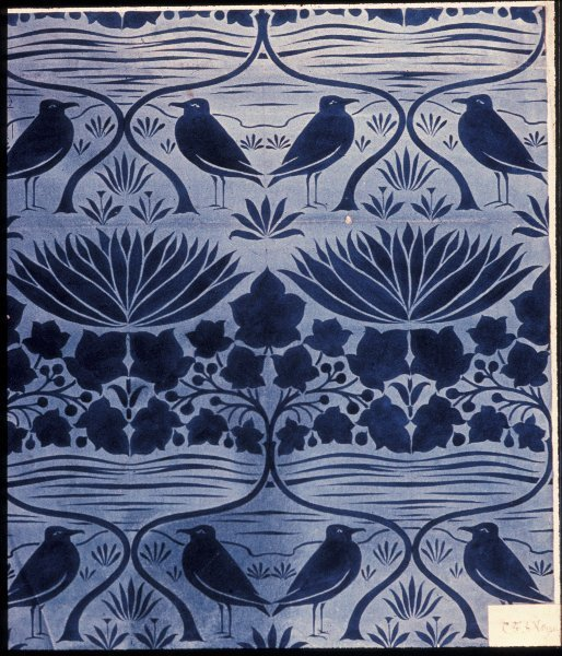 Wallpaper, Jeffrey& Co Designer: Voysey, Charles Francis Annesley, Victoria & Albert Museum, London, Copyright Not Evaluated