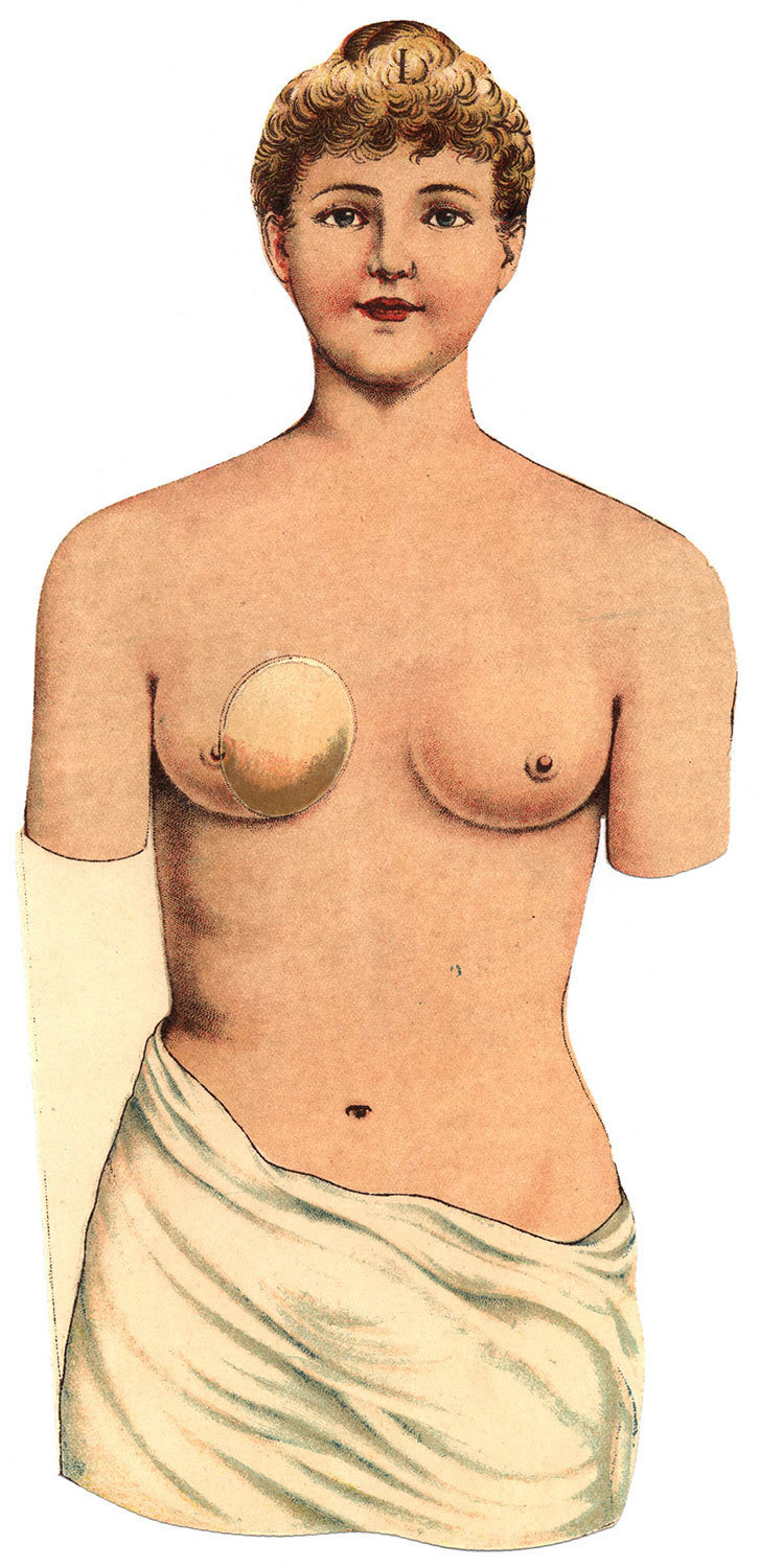 Plate I from The Woman: Her build and her internal organs, Aletta Jacobs, Project Gutenberg, Public Domain Mark