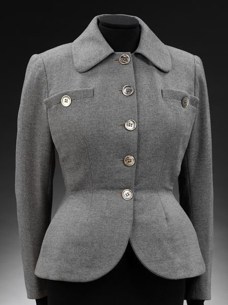 'New Look' wool flannel jacket, 1947-48, Christian Dior, Victoria and Albert Museum, CC BY