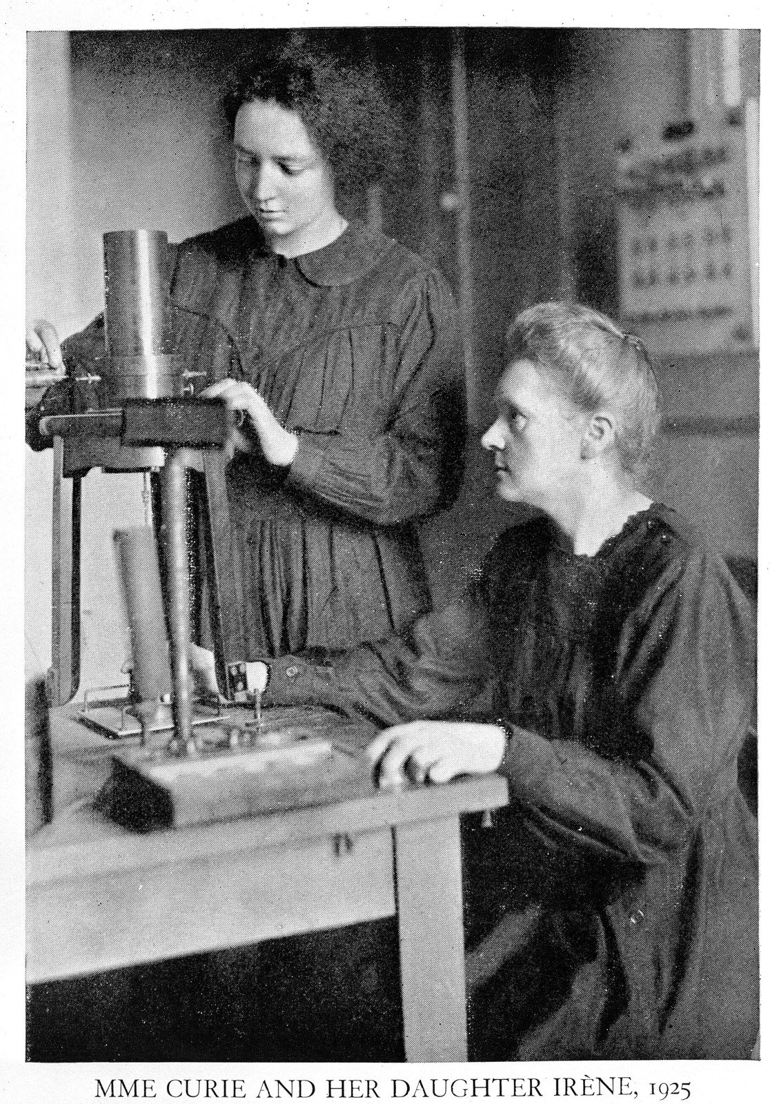 Portrait of Marie Curie and her daughter Irene, 1925, Unknown, Wellcome Collection, CC BY