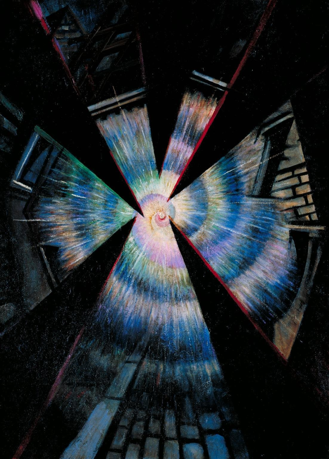 Bursting Shell, 1917, C.R.W. Nevinson, Tate, CC BY-NC-ND