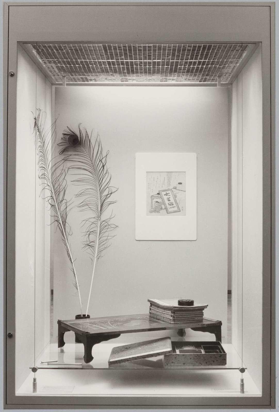 Surimono-arrangement in the Asian department, 1982, anonymous, Rijksmuseum, Public Domain Mark