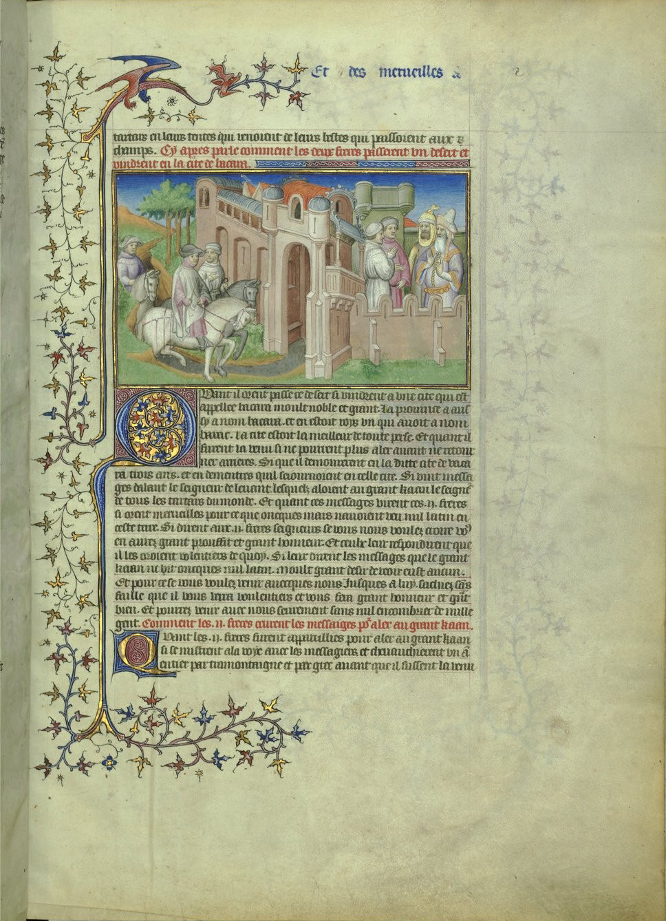 Anthology of travel literature and texts on the Orient f11, Paris, 15th century (1410-1412 ; c. 1470 for the miniature on f. 42v), Bibliothèque nationale de France, Manuscrits, Français 2810 Parchment, 299 ff., 420 x 298 mm., In Copyright