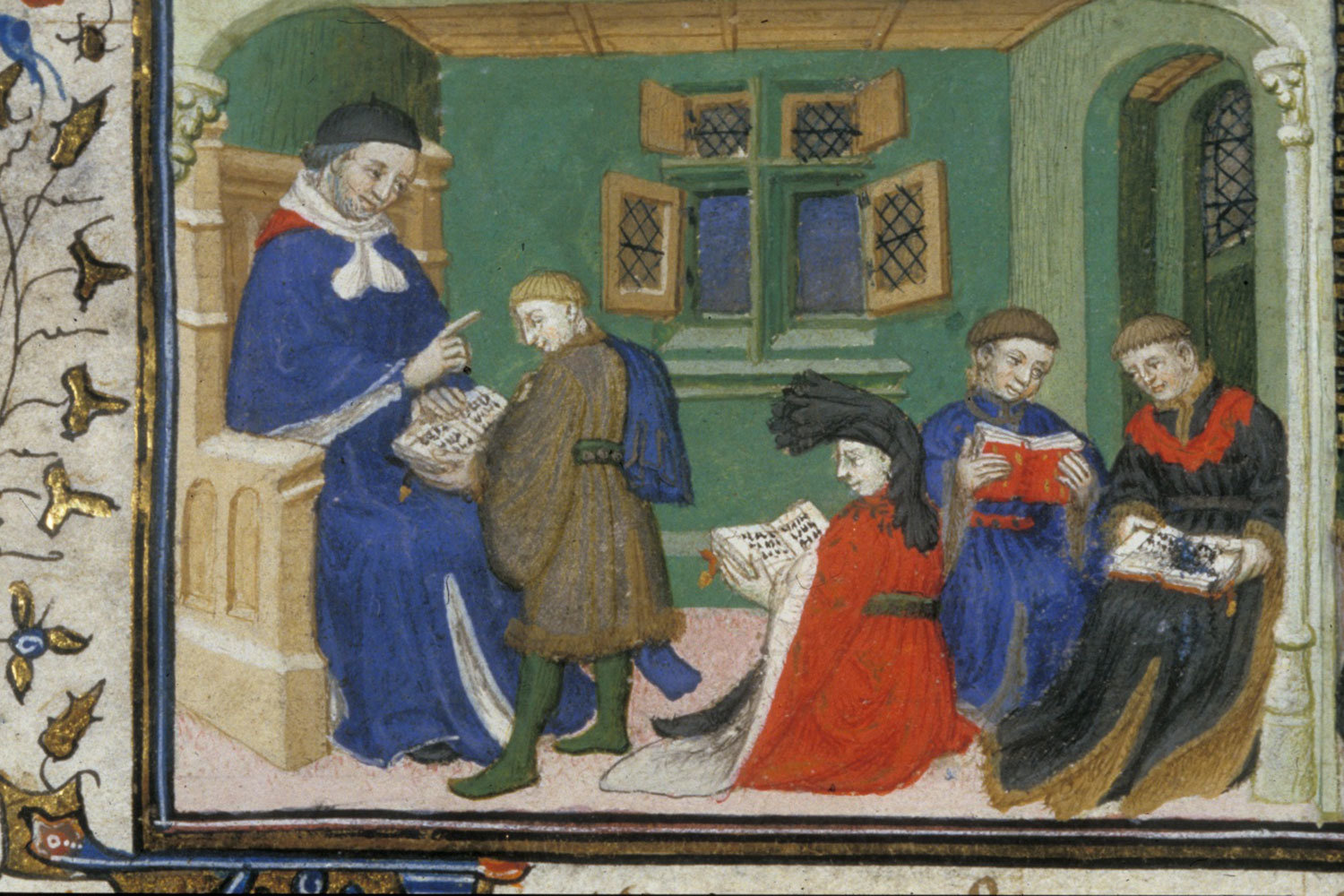 Aristotle and Alexander from BL Royal 20 B XX, f. 10v (detail), c. 1420, unknown, British Library, Public Domain Mark