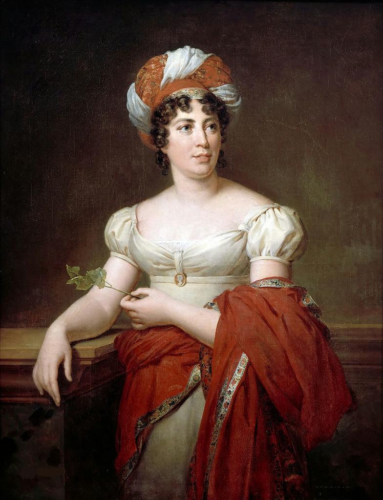 Portrait of Mme de Staël, Marie-Éléonore Godefroid, Wikimedia after Collection Chateau de Versailles, Public Domain Mark