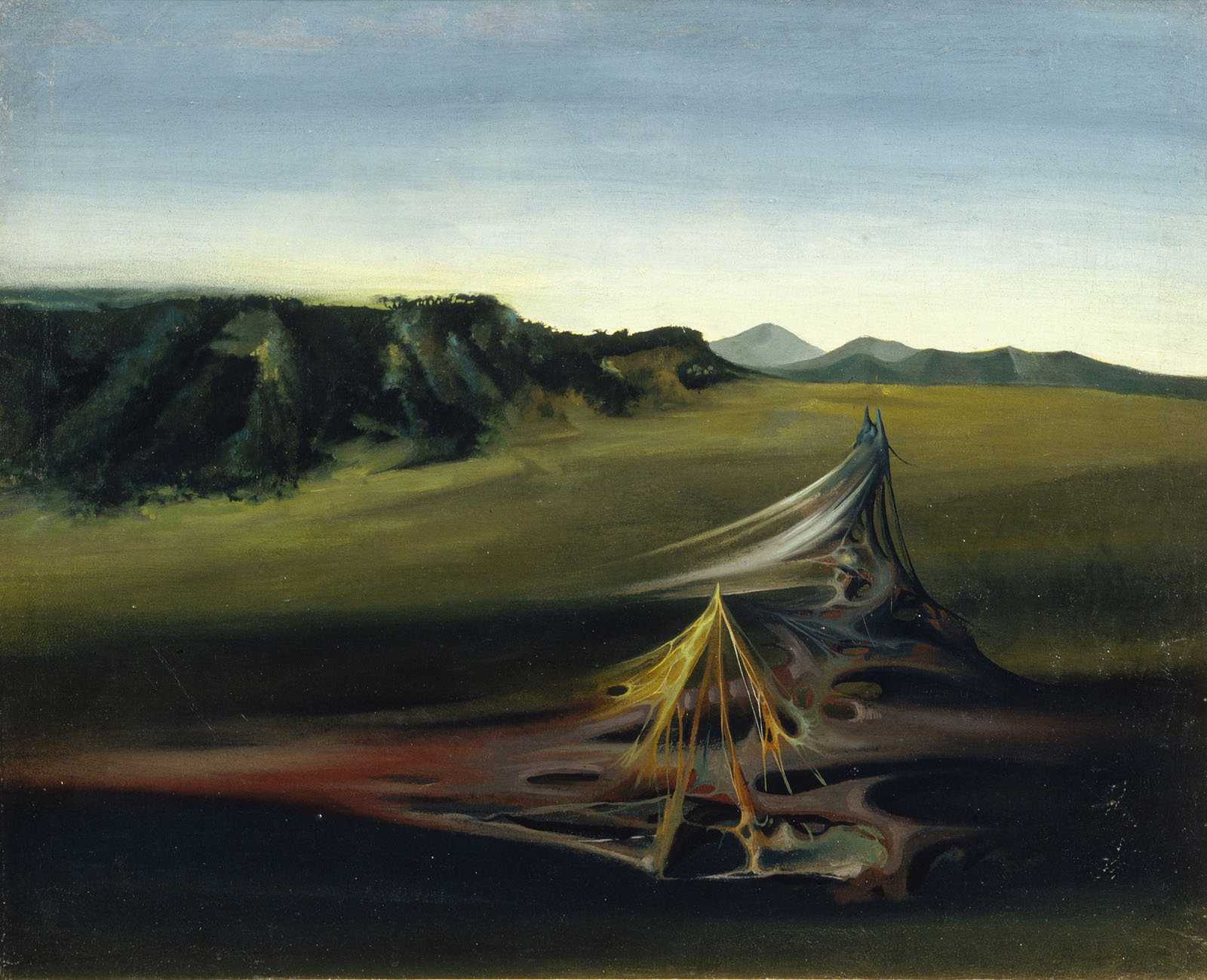 Organic Landscape (Paysage organique), 1932, Jules Perahim, The Israel Museum,Jerusalem, The Vera and Arturo Schwarz Collection of Dada and Surealist Art, In Copyright