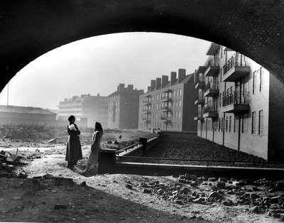 Council flats and gaping spaces at London's Chinatown, 1951, TopFoto, TopFoto, In Copyright