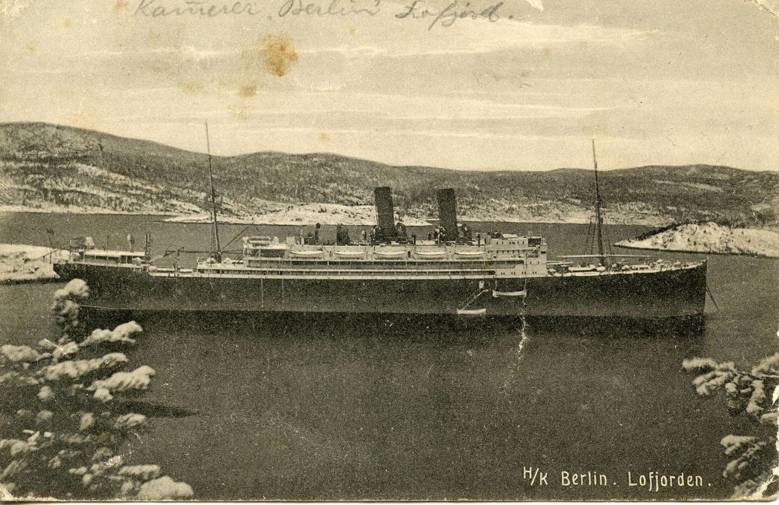 Norwegian postcard, 21.11.1918, Europeana 1914- 1918 / Bernd Rossberg , CC BY-SA