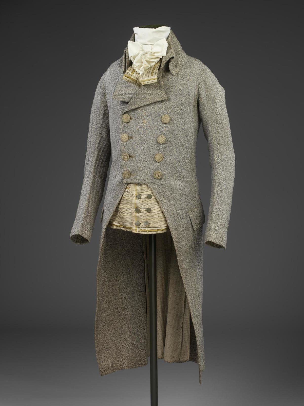 Man's frock coat of wool, England, 1790, unknown, Victoria & Albert Museum, CC BY-SA