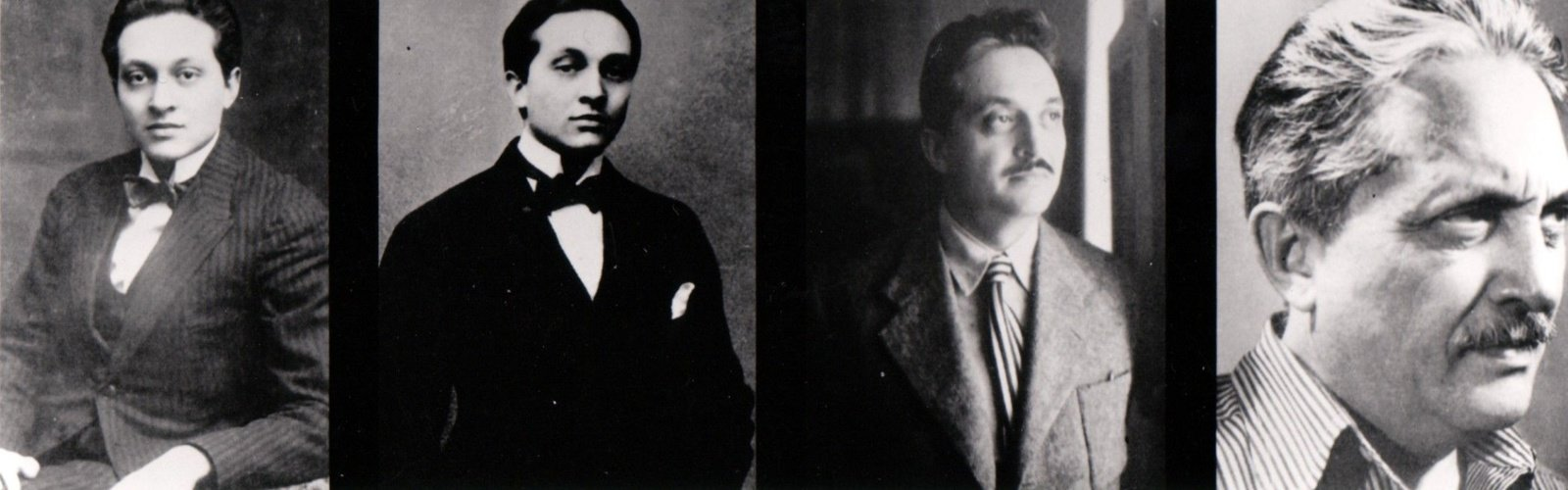 Four portraits of Marcel Janco, dated, from left to right: 1915, 1917, 1930, 1960s, Unknown photographers, Josine Ianco-Starrels Collection, Copyright Not Evaluated